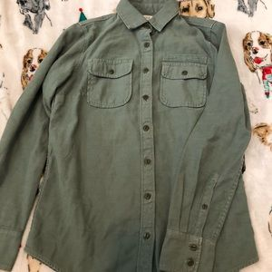 J. Crew Tops - J. Crew Utility Button Down Shirt